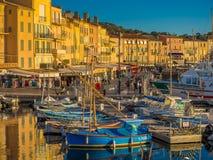 Saint Tropez hamn, Frankrike Arkivfoton