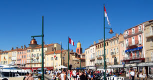 Saint Tropez harbor Stock Photo