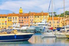 Saint Tropez i Frankrike arkivfoton