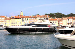 Saint-Tropez Luxury Yacht French Riviera Stock Photography