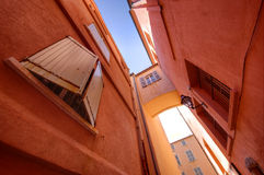 Saint Tropez narrow street stock photography