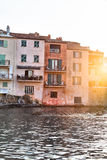 Saint Tropez old buildings Royalty Free Stock Photos