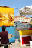Saint-Tropez Painter French Riviera Royalty Free Stock Photo