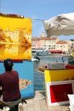 Saint-Tropez Painter French Riviera Royalty Free Stock Photo