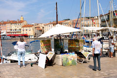 Saint-Tropez Painter French Riviera Stock Photography