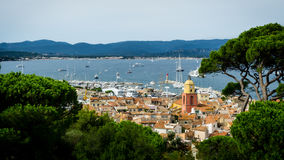 Saint Tropez panorama. The Saint Tropez (France) aerial view Royalty Free Stock Image