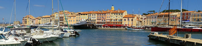 Saint Tropez - Panoramic view Stock Images