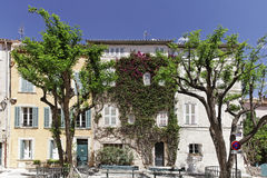 Saint Tropez, Place Henri Person, Cote d'Azur, Southern France Stock Image