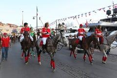 Saint Tropez Polo Team Arkivbild