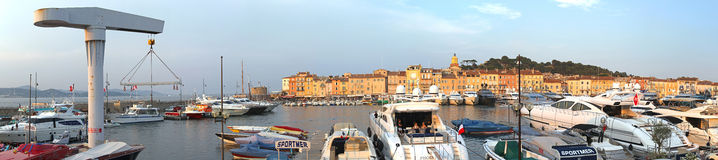 Saint Tropez port Royaltyfri Bild