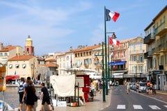 Saint-Tropez Port French Riviera. View of the famous village of Saint-Tropez Provence Alpes Cote d'azur France royalty free stock images