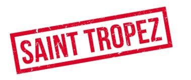 Saint tropez rubber stamp. On white. Print, impress, overprint Stock Photography