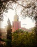 Saint Tropez. Paca nature landscape church christian jesus god sea sun stars holidays royalty free stock photo