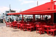 Saint-Tropez Senequier Cafe French Riviera Stock Photo