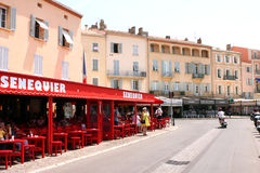 Saint-Tropez Senequier Cafe French Riviera Royalty Free Stock Photography