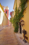 Saint Tropez street. Narrow street in Saint Tropez, France Stock Photography