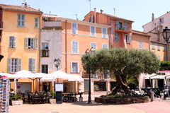 Saint-Tropez street French Riviera Royalty Free Stock Photography