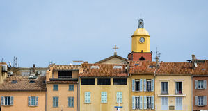 Saint-Tropez town. The Saint-Tropez town (france Royalty Free Stock Photos