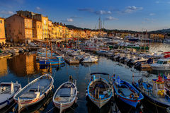 Saint Tropez. A view from Saint Tropez at sunset Royalty Free Stock Images