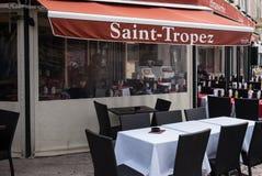 Saint Tropez Restaurant. Yacht Harbor Saint Tropez, Restaurant stock images