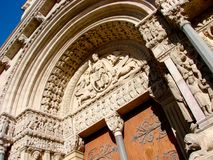 Saint Trophime portal in Arles Stock Images
