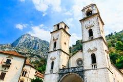 Saint Tryphon de cathédrale dans la vieille ville de Kotor, Monténégro Image libre de droits