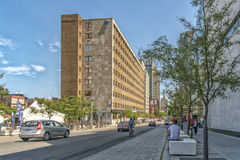Saint_Urbain Street - Quartier des spectacles Royalty Free Stock Photography