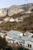 Saint Uspensky Cave Monastery in Crimea Royalty Free Stock Images