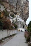 Saint Uspensky Cave Monastery in Crimea Royalty Free Stock Image