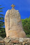 Saint Uzec de menhir Images stock