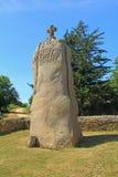 Saint Uzec, la Bretagne, France de menhir Photographie stock libre de droits