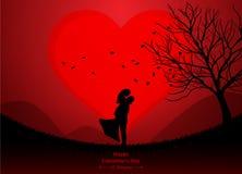 Saint Valentin, épousant illustration stock