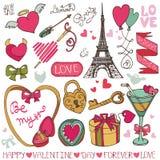 Saint Valentin, épousant le décor Image libre de droits