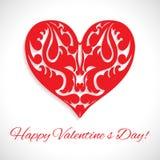 Saint-Valentin. Coeur de modèle. Images stock