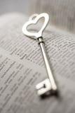 Saint Valentin, concept principal d'amour de serrure Image libre de droits