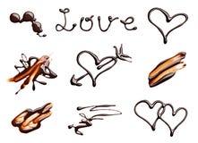 Saint Valentin d'amour de coeur de chocolat Photos stock