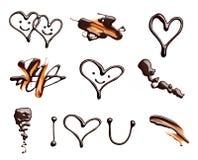 Saint Valentin d'amour de coeur de chocolat Photographie stock libre de droits