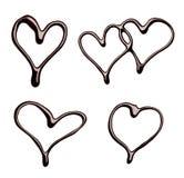 Saint Valentin d'amour de coeur de chocolat Images libres de droits