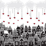 Saint-Valentin dans la ville illustration de vecteur