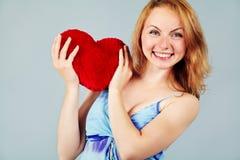 Saint-Valentin de attente de femme Photos libres de droits