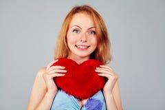 Saint-Valentin de attente de femme Photos stock