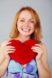 Saint-Valentin de attente de femme Image libre de droits