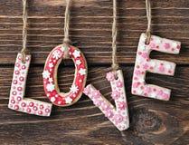 Saint-Valentin de biscuits Photos libres de droits
