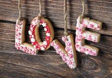 Saint-Valentin de biscuits Photographie stock libre de droits