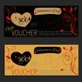 Saint-Valentin de bon de vecteur de bon de cadeau Photo libre de droits