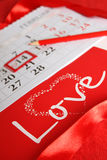 Saint Valentin de calendrier Image stock