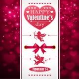 Saint-Valentin de carte postale Photos libres de droits