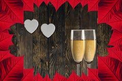 Saint-Valentin de champagne de pain grillé image libre de droits