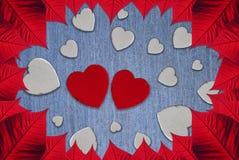 Saint-Valentin de coeurs photo libre de droits