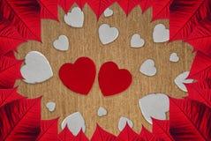 Saint-Valentin de coeurs image libre de droits